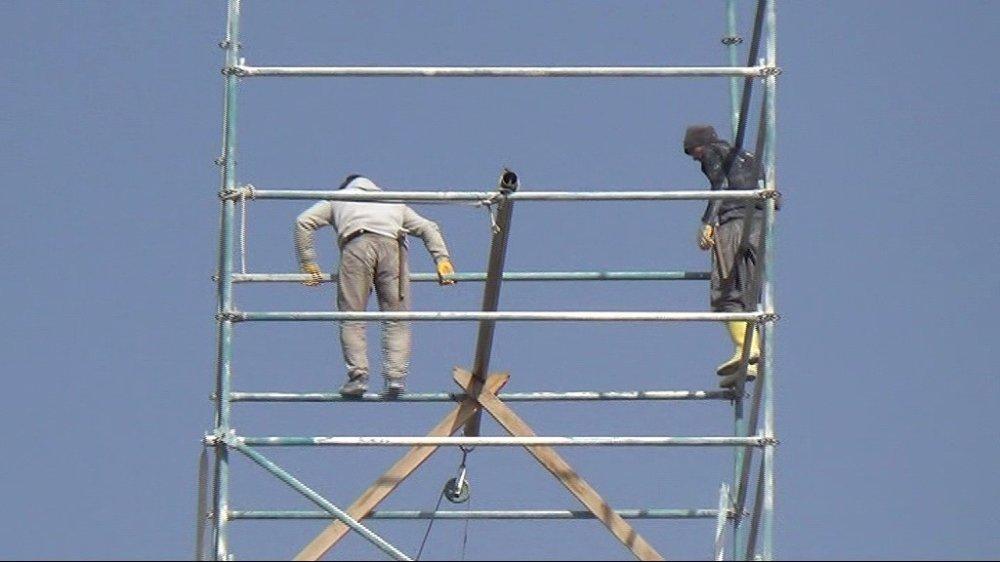 Metrelerce Yüksekte Çalışan İşçiler Tehlikeye Aldırış Etmiyor