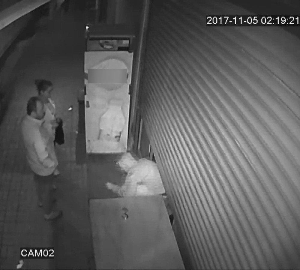 Hırsız Market Sahibine Yumruk Atıp Kaçtı