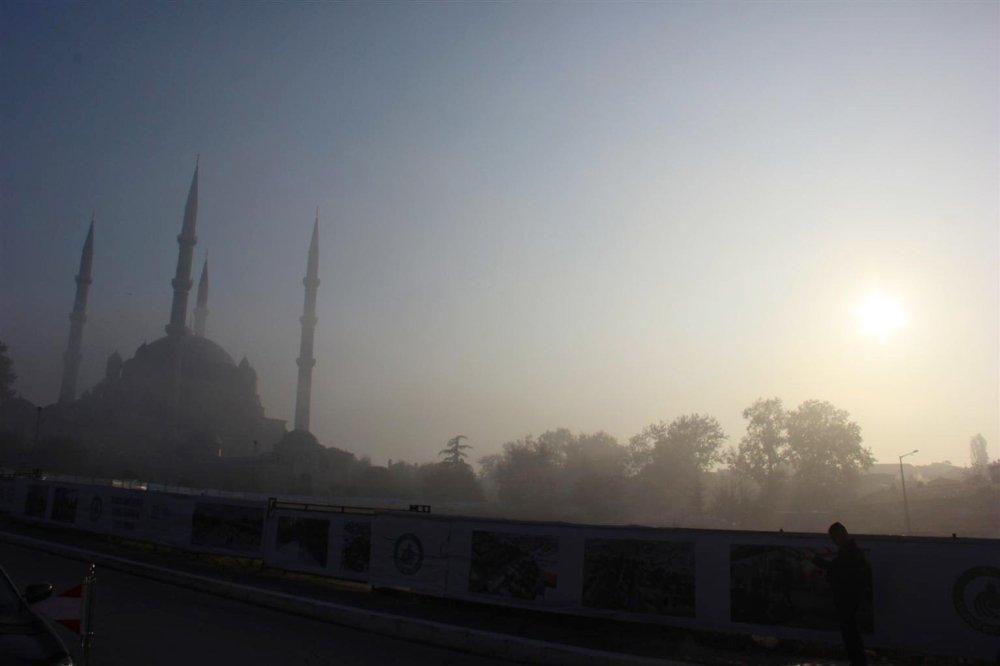 Edirne'de Yoğun Sis
