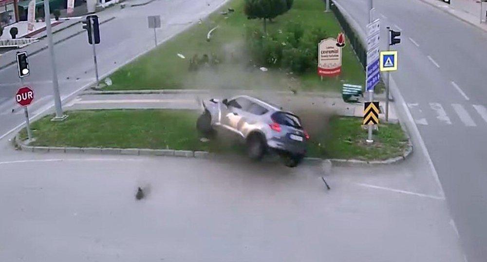 Samsun'da Trafik Kazaları Mobese'de