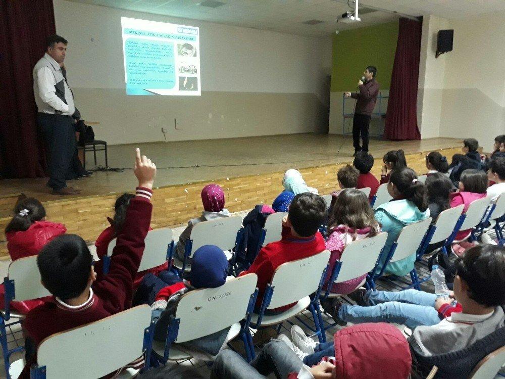 Körfez'deki Okullarda Çevre Eğitimi Sürüyor