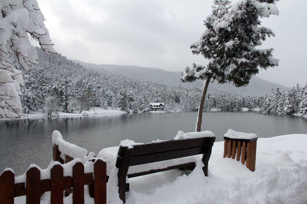 Gölcük Tabiat Parkı'nda Kar Güzelliği
