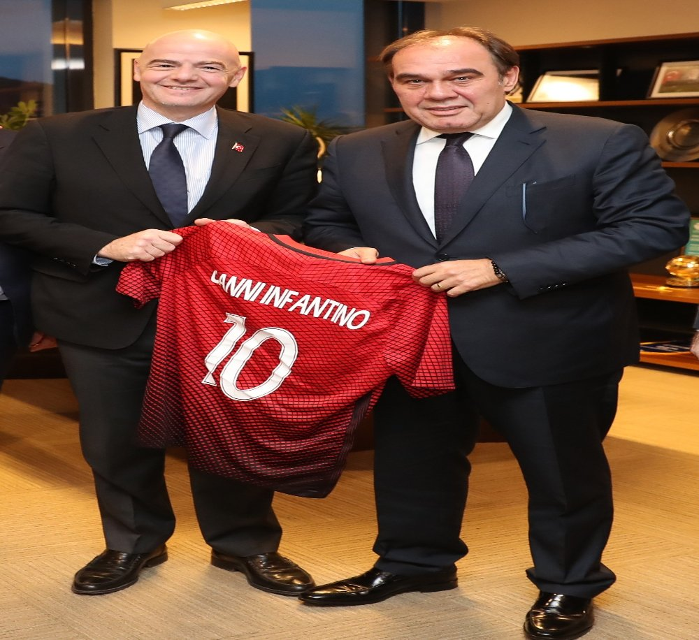 Fıfa Başkanı Infantino'dan Tff'ye Ziyaret