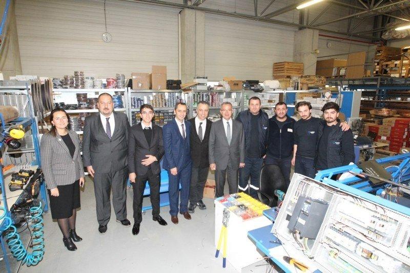 Başkan Köşker Ödüllü Fabrikaları Ziyaret Ediyor