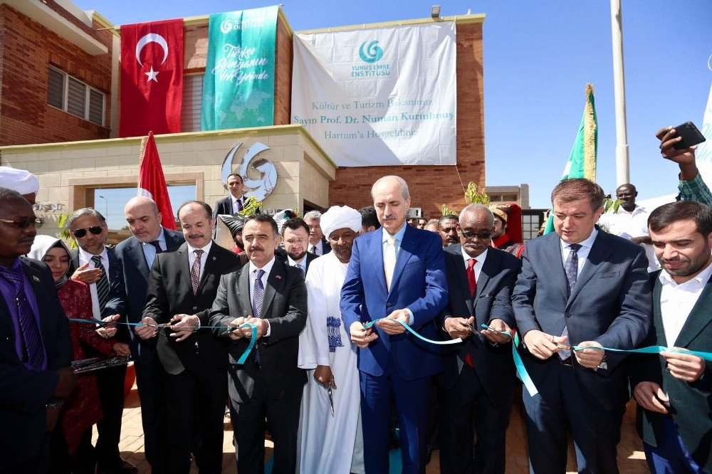 Kurtulmuş Sudan'da Türk Kültür Merkezi'nin Açılışını Yaptı