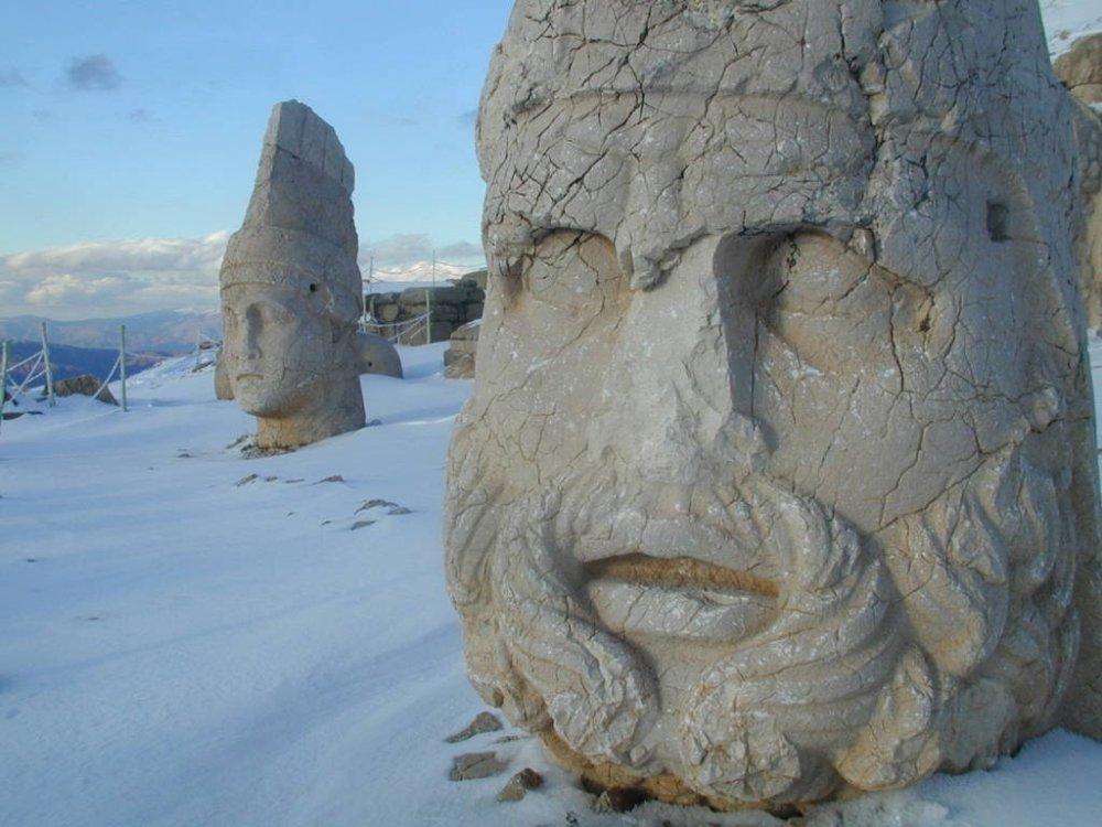 Nemrut Dağı'nda Kartpostallık Görüntüler