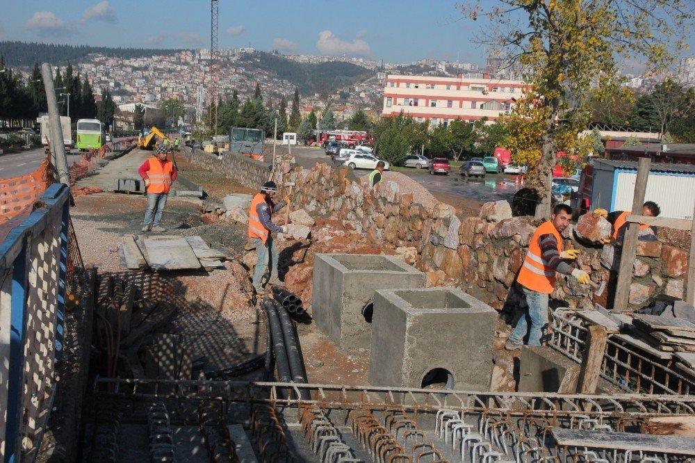 Kumla Deresi ilave yol ve köprü çalışması hız kesmiyor