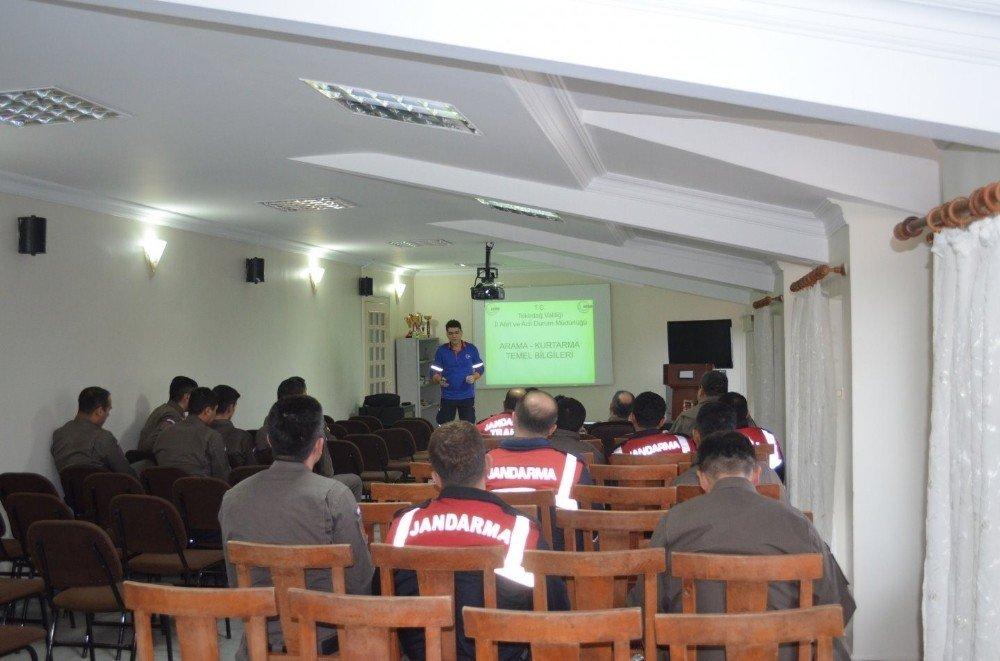 Jandarma'ya Afet Bilinci Eğitimi verildi