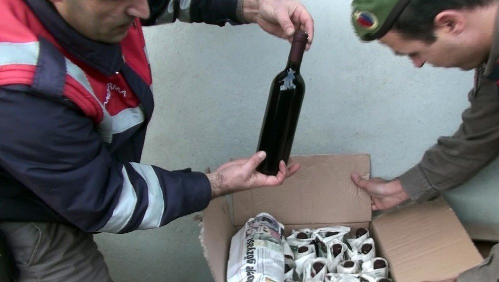 Jandarmadan sahte içki imalathanesine baskın