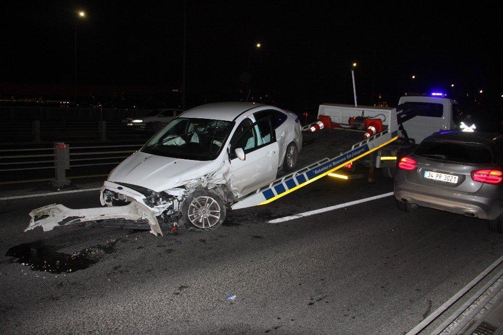 Haliç Köprüsü'nde kaza: 1 yaralı