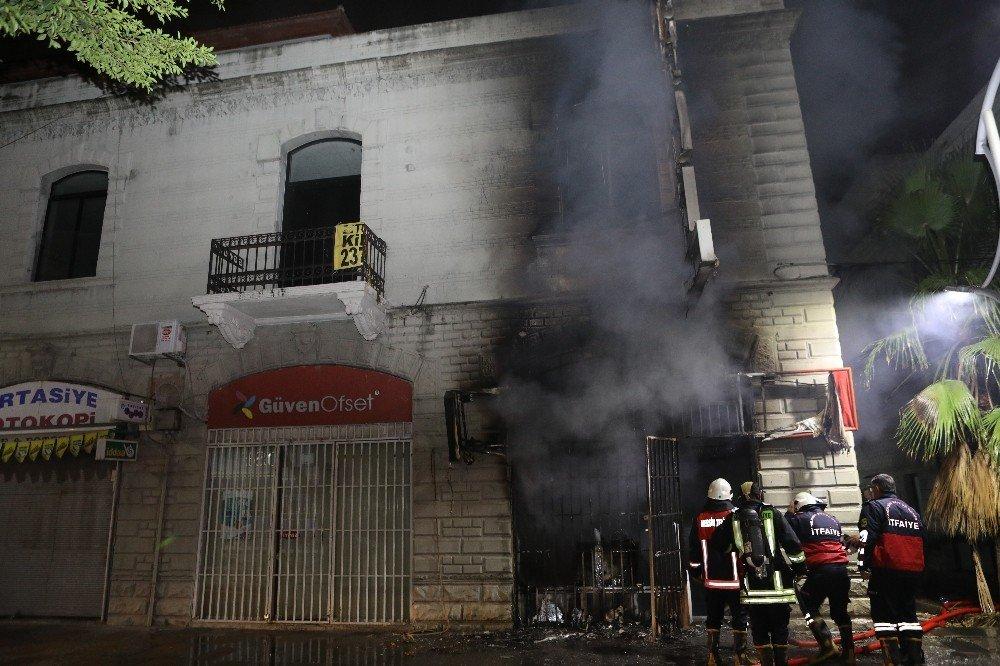 Mersin'de iş yeri yangını korkuttu