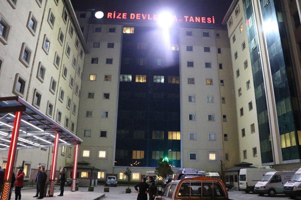 Rize'de 2018'in ilk dakikalarında çocuk acilinde çıkan yangın paniğe neden oldu