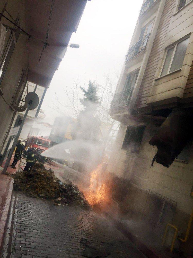 Samsun'da doğalgaz patladı, ortalık savaş alanına döndü