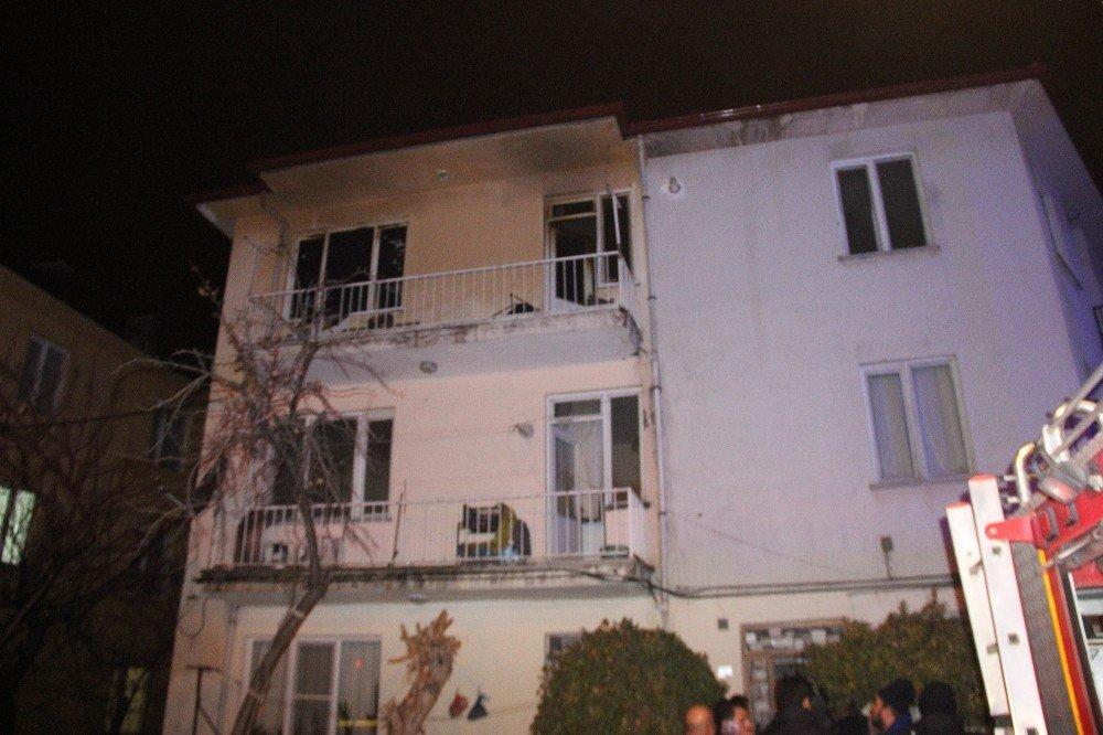 Konya'da yangın paniğe sebep oldu