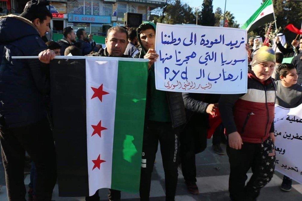 Suriye Aşiret ve Kabile Meclisi'nden Zeytin Dalı harekatına destek
