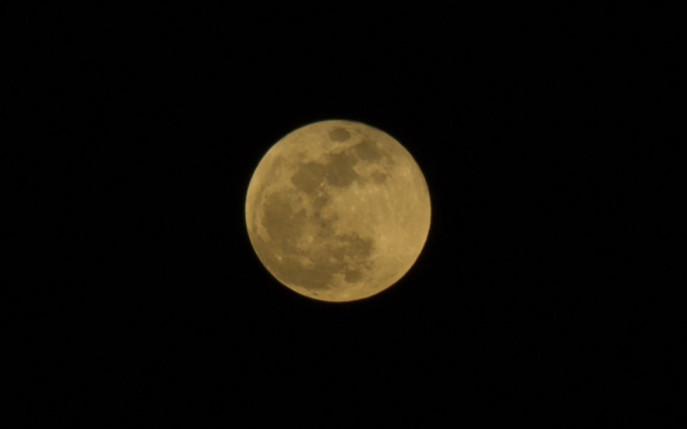 Başkentte Süper Kanlı Mavi Ay manzarası