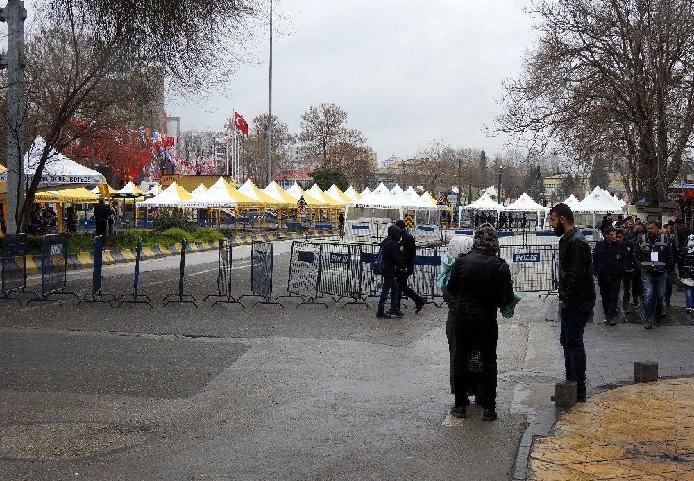 Cumhurbaşkanı Erdoğan'ın Mitingi Öncesi Yoğun Güvenlik Tedbirleri Alındı