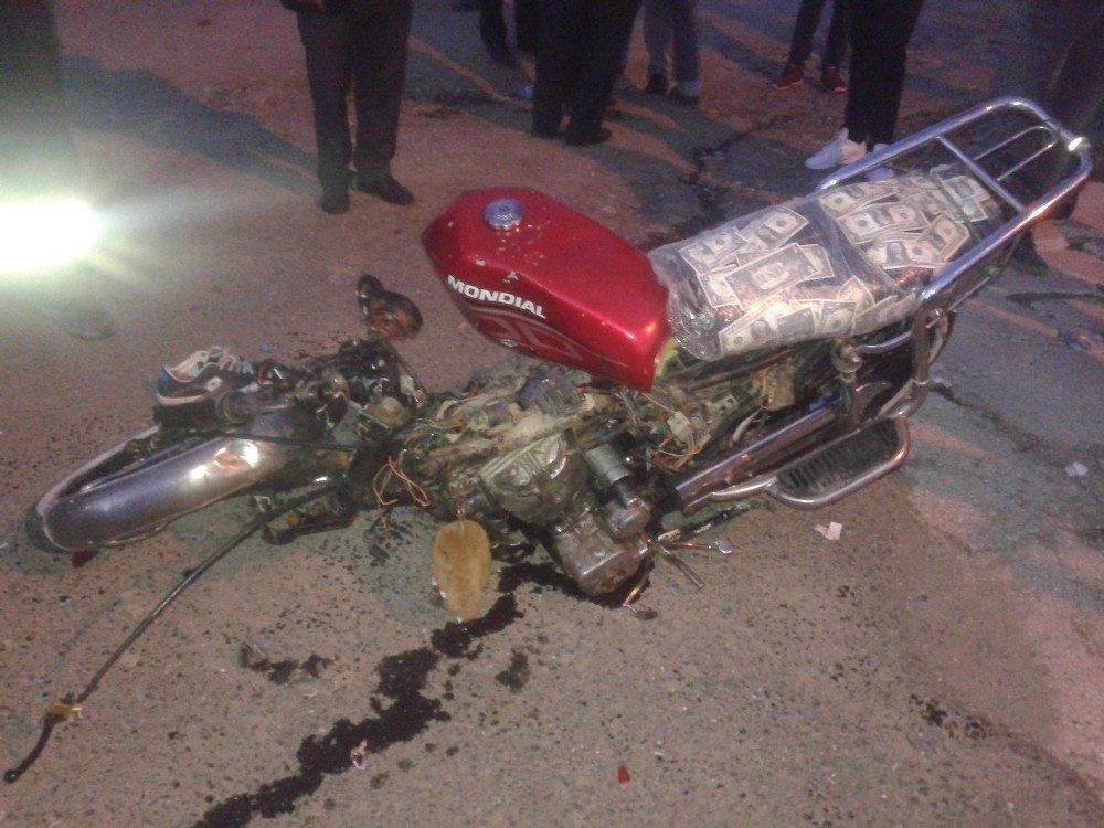 Motosiklet İkiye Bölündü: 2 Yaralı