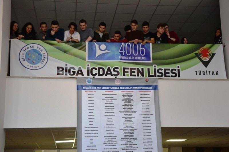 Biga'da 4006 Tübitak Bilim Fuarı