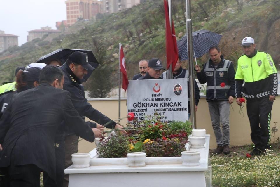 Şehit Polisler Mezarları Başında Anıldı