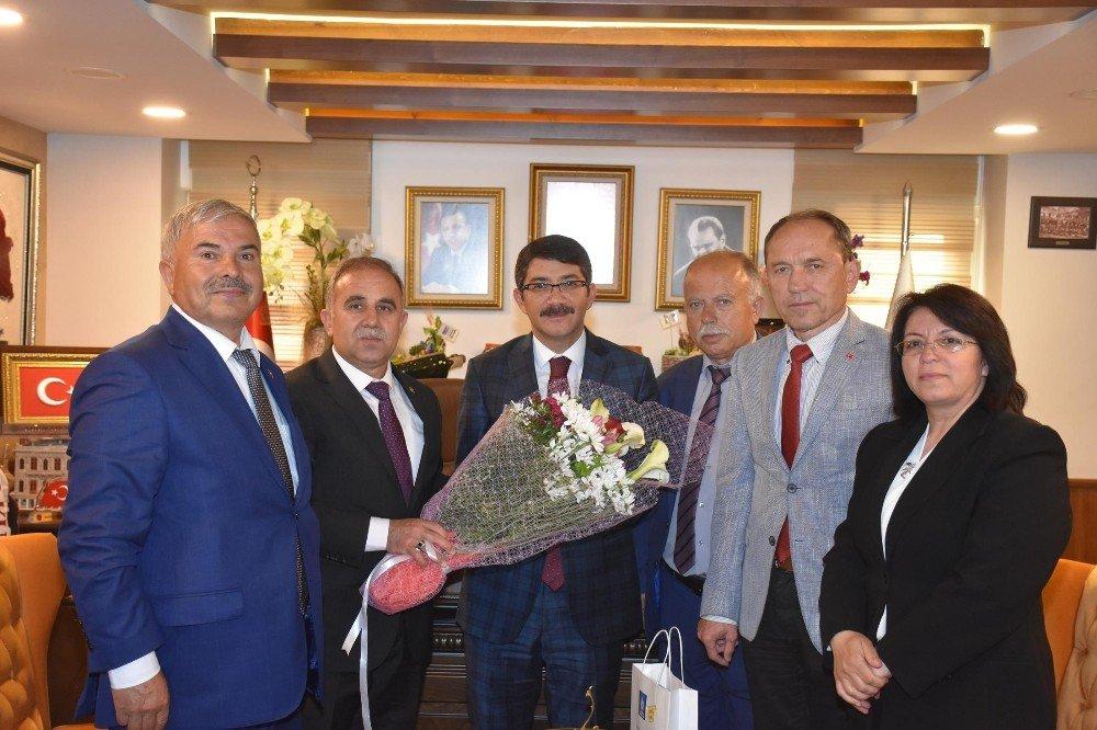 Başkan Çelik'e Yoğun Ziyaret Trafiği