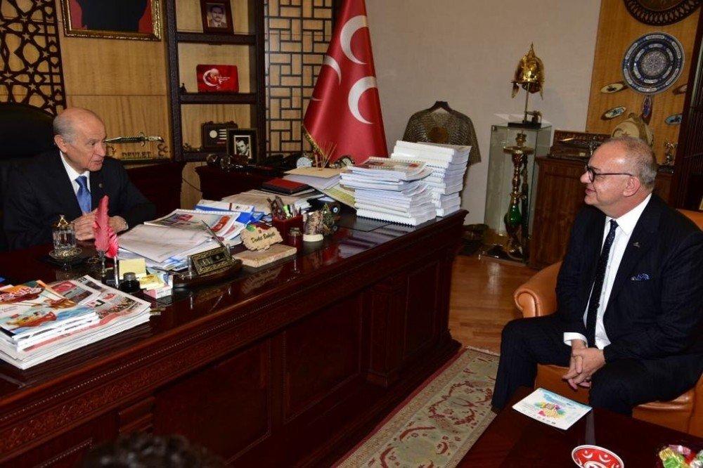 Başkan Ergün, Mhp Genel Başkanı Bahçeli İle Buluştu