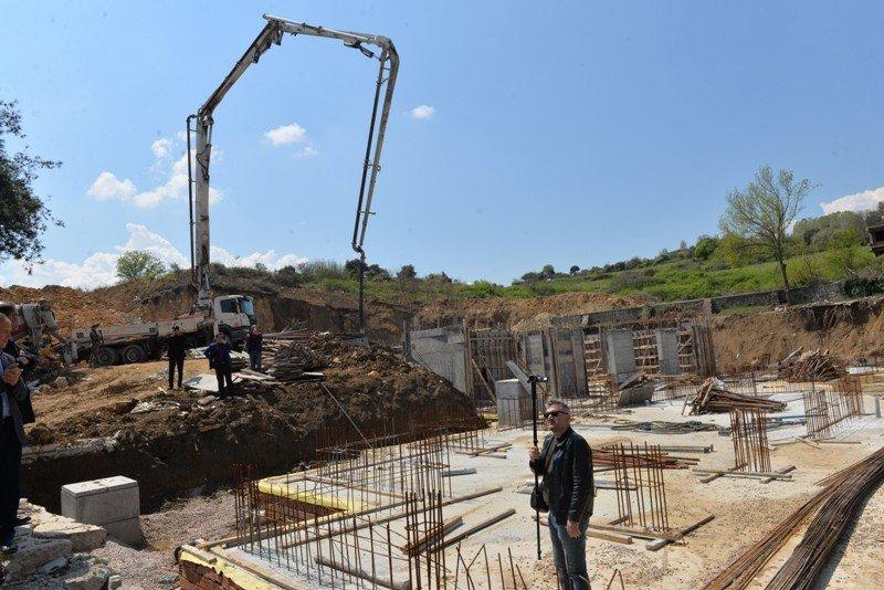 Biga'da Fatih İlkokulu'nun Temeli Törenle Atıldı