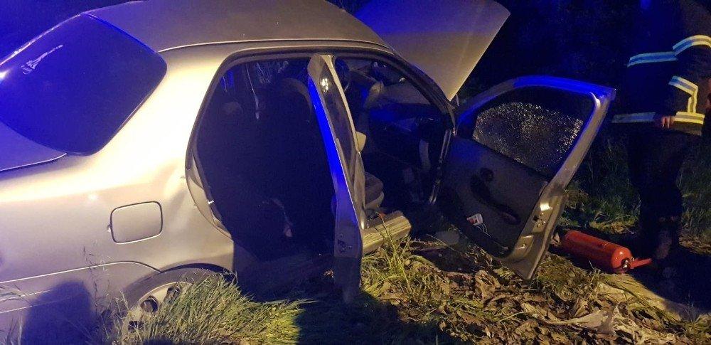 Yolcu Otobüsü İle Otomobil Çarpıştı: 3 Yaralı