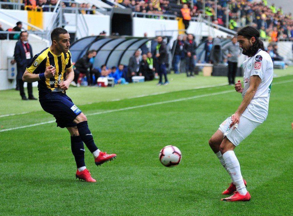 Spor Toto Süper Lig: Mke Ankaragücü: 0 - Atiker Konyaspor: 0 (İlk Yarı)