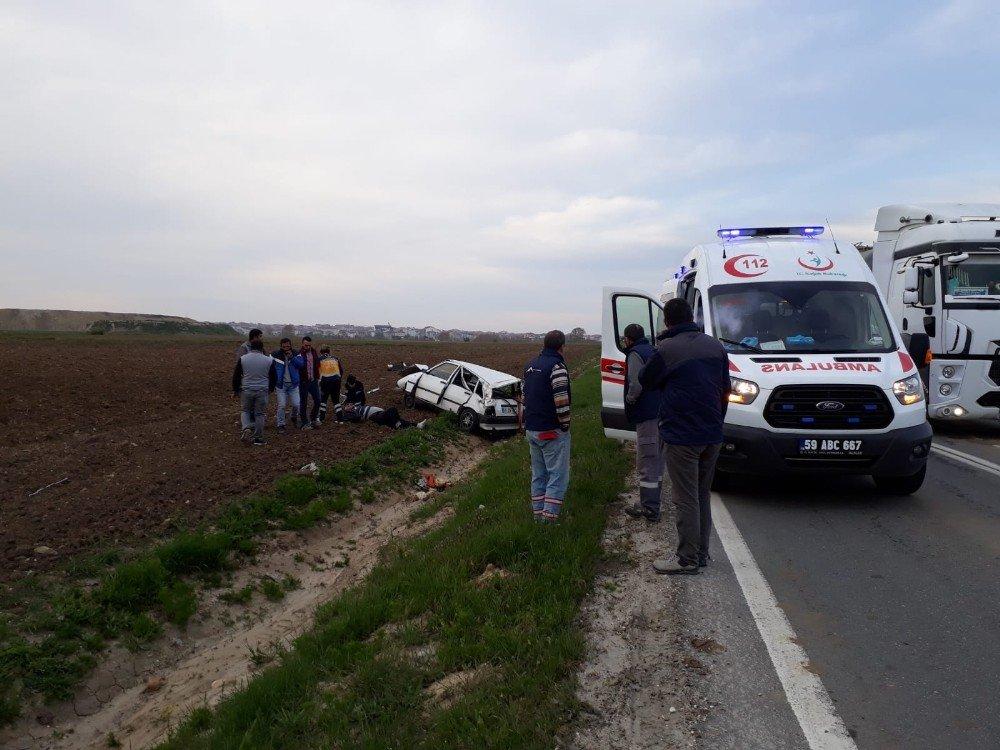 Kontrolden Çıkan Otomobil Şarampole Yuvarlandı: 1 Yaralı