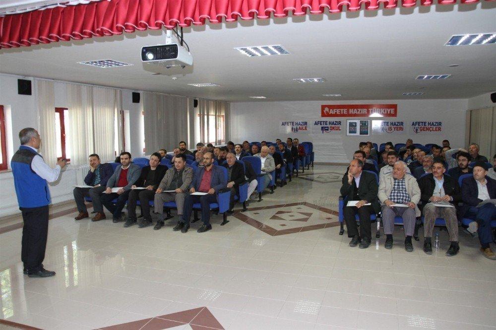 Afyonkarahisar'da Din Görevlilerine Dask Eğitimi