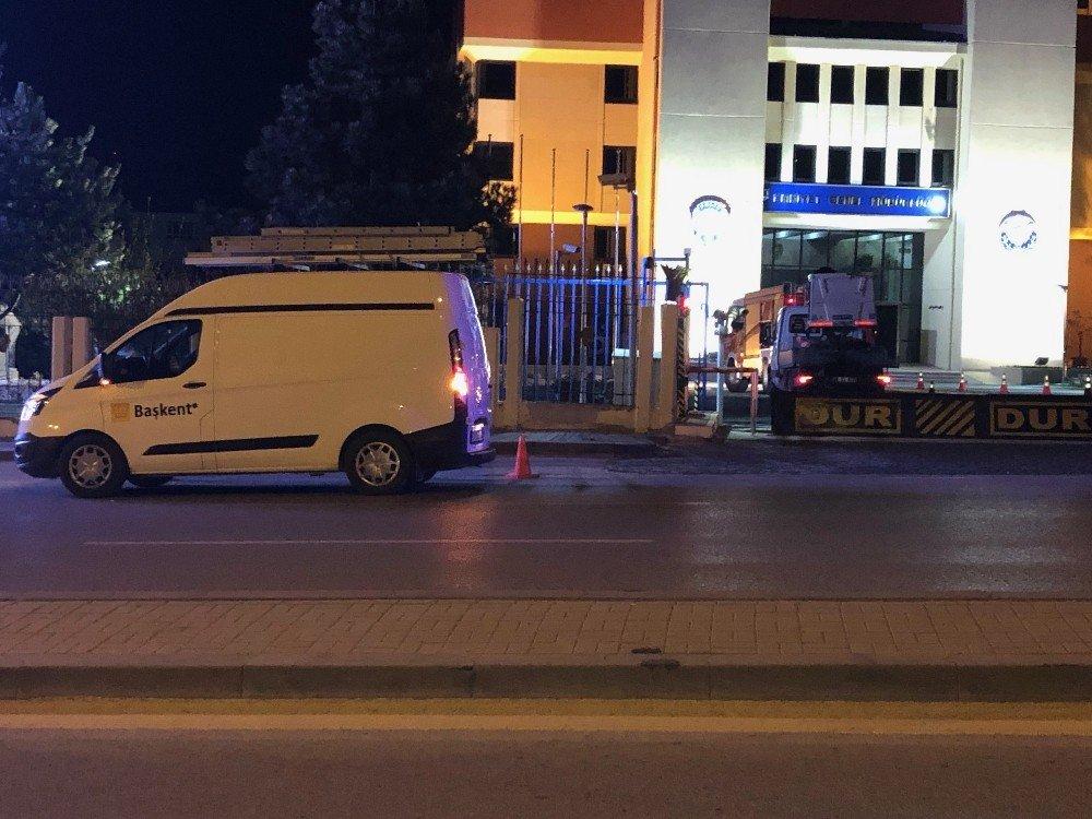 Ankara Emniyet Genel Müdürlüğünde Yangın Paniği