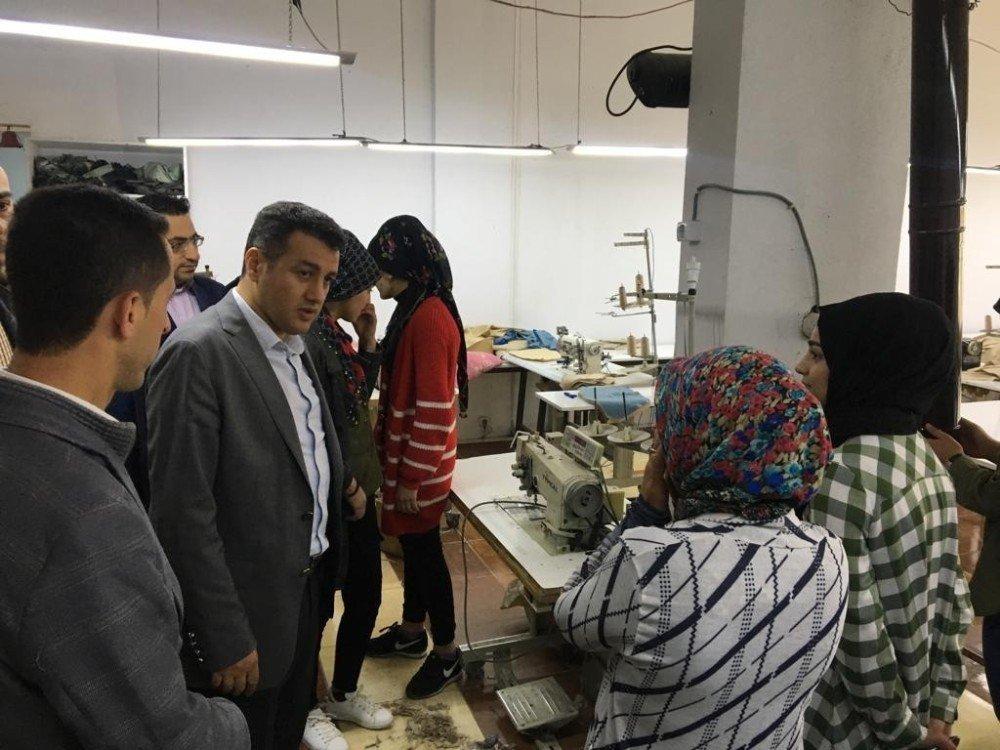 Kaymakam Şekerci'den Tekstil Atölyesine Ziyaret
