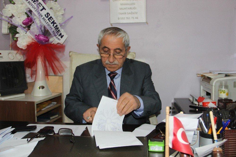 Erzurum'un En Eski Muhtarı 42 Yıldır Görevde