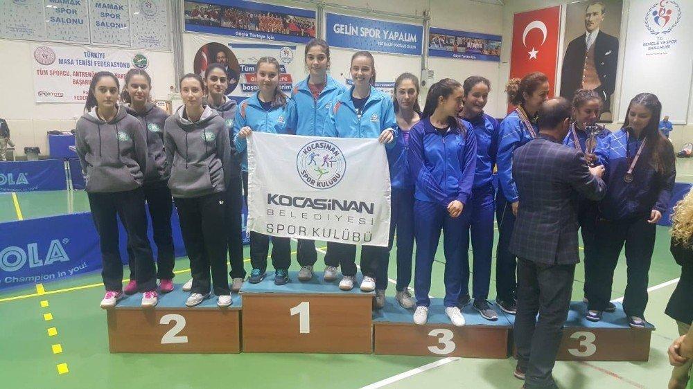 Kocasinan Belediyespor B Kız Takımı Türkiye Masa Tenisi 1. Ligi Şampiyon Tamamladı