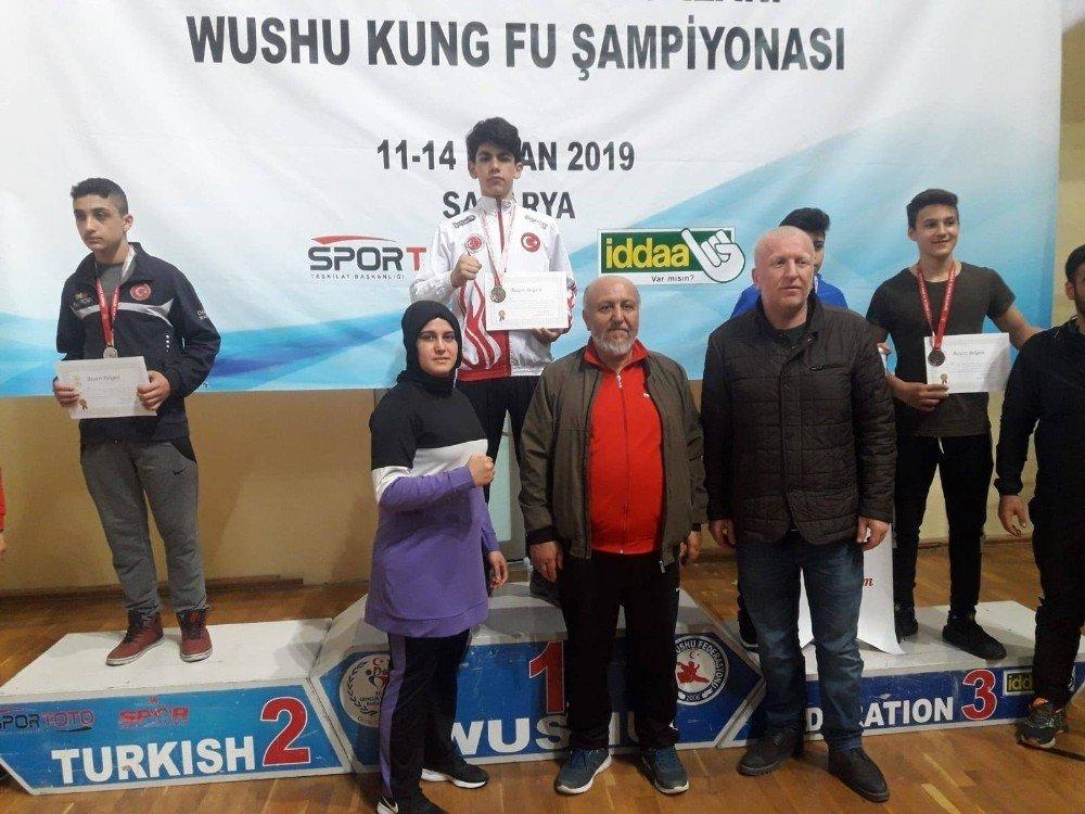 Okullar Arası Wushu Türkiye Birinciliği Müsabakalarına Kayseri Damgası