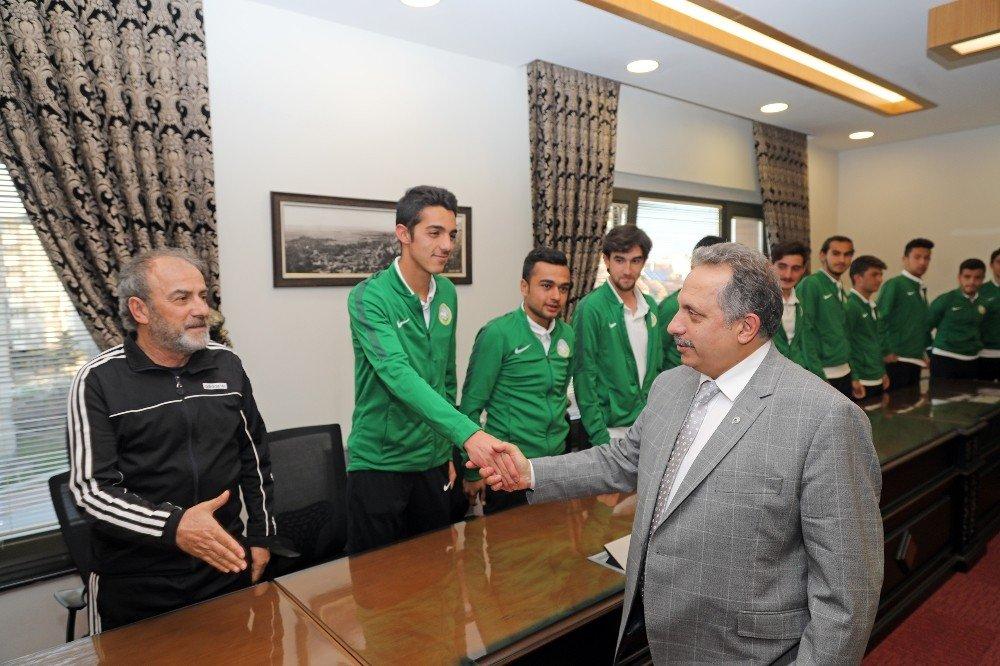 Şampiyon Talasgücü'nden Başkan Yalçın'a Ziyaret