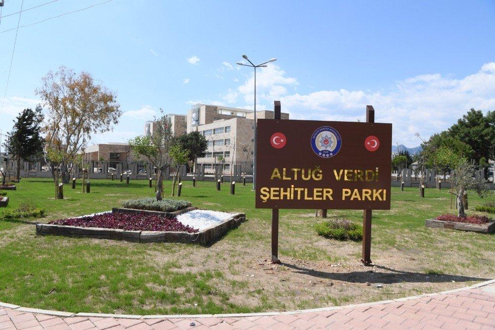Konyaaltı Belediyesi'nden Şehit Emniyet Müdürü Anısına Park