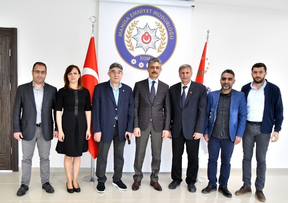 Gazeteciler Cemiyeti'nden Emniyet Müdürü Bilgiç'e Ziyaret