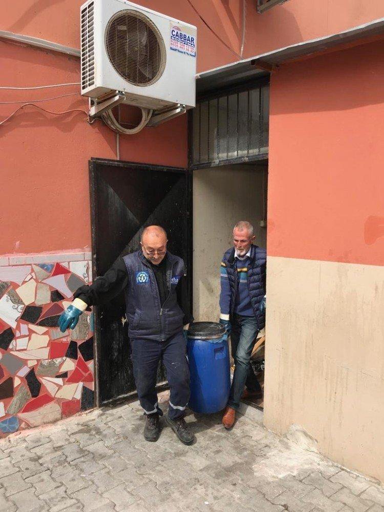 Samandağ'da Nisan'da Bin 413 Litre Atık Yağ Toplandı