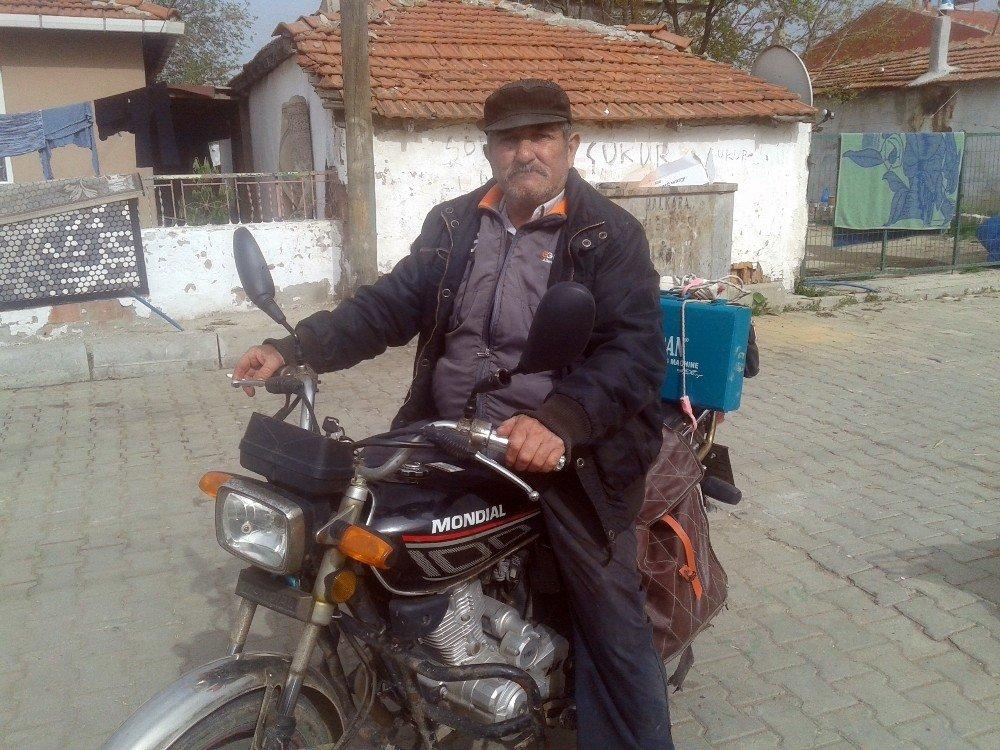 Çalınan Motosikletine Aynı Gün Kavuştu