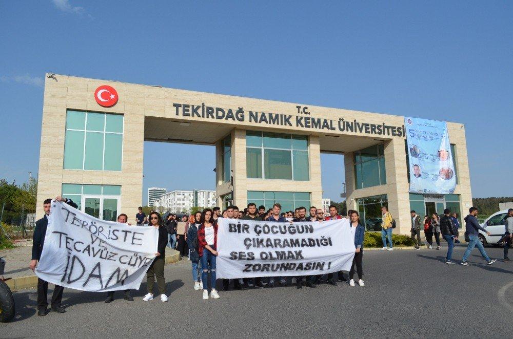Üniversiteliler Taciz Ve İstismara Karşı Sokağa İndi