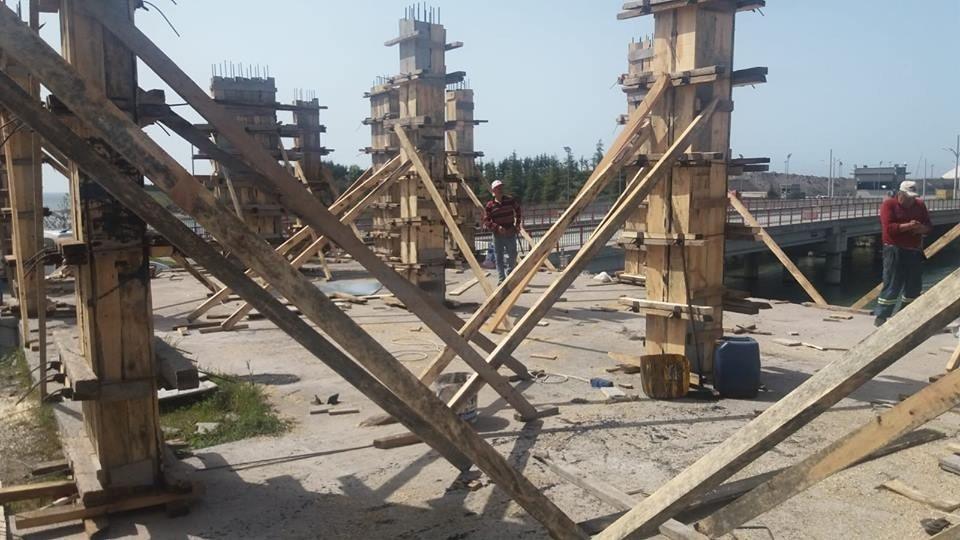 Gülüç'te Sahil Kafenin Yapımına Başlandı