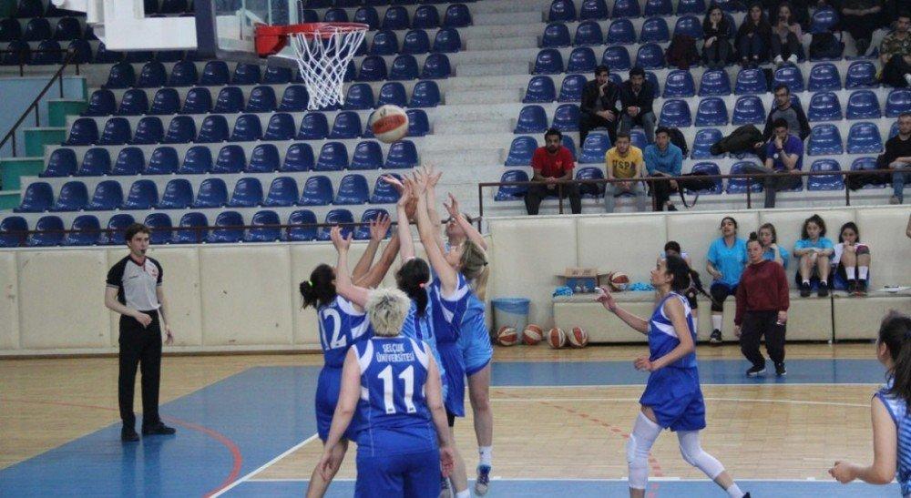 Dpü Kadın Basketbol Takımı, Selçuk Üniversitesi'ni 65-48 Yendi