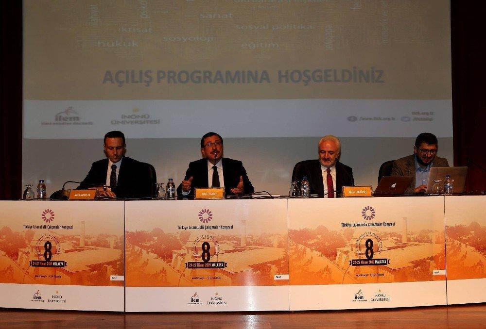 8. Türkiye Lisansüstü Çalışmalar Kongresi Malatya'da Yapıldı
