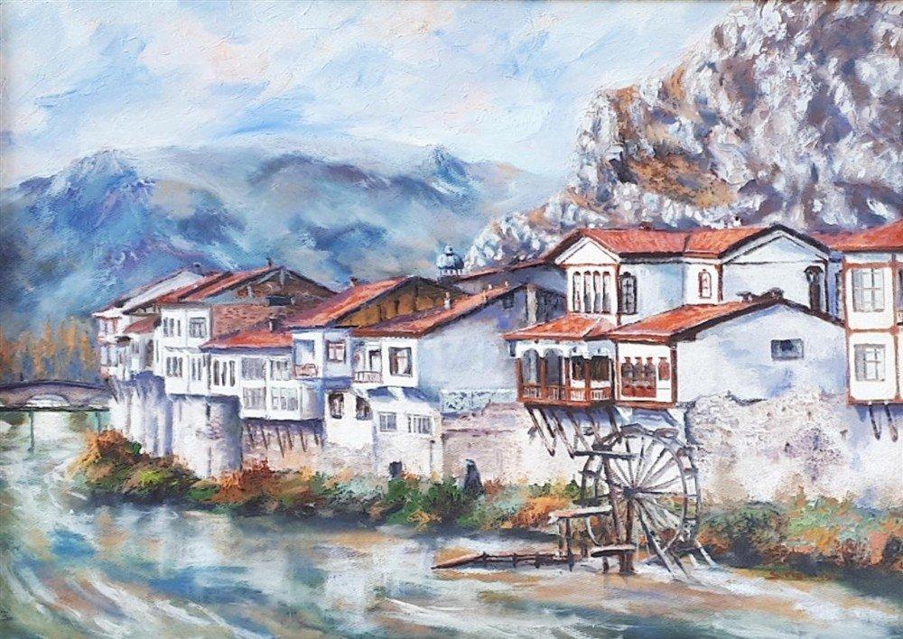 Ressam Memioğlu'dan 'Amasya' Sergisi