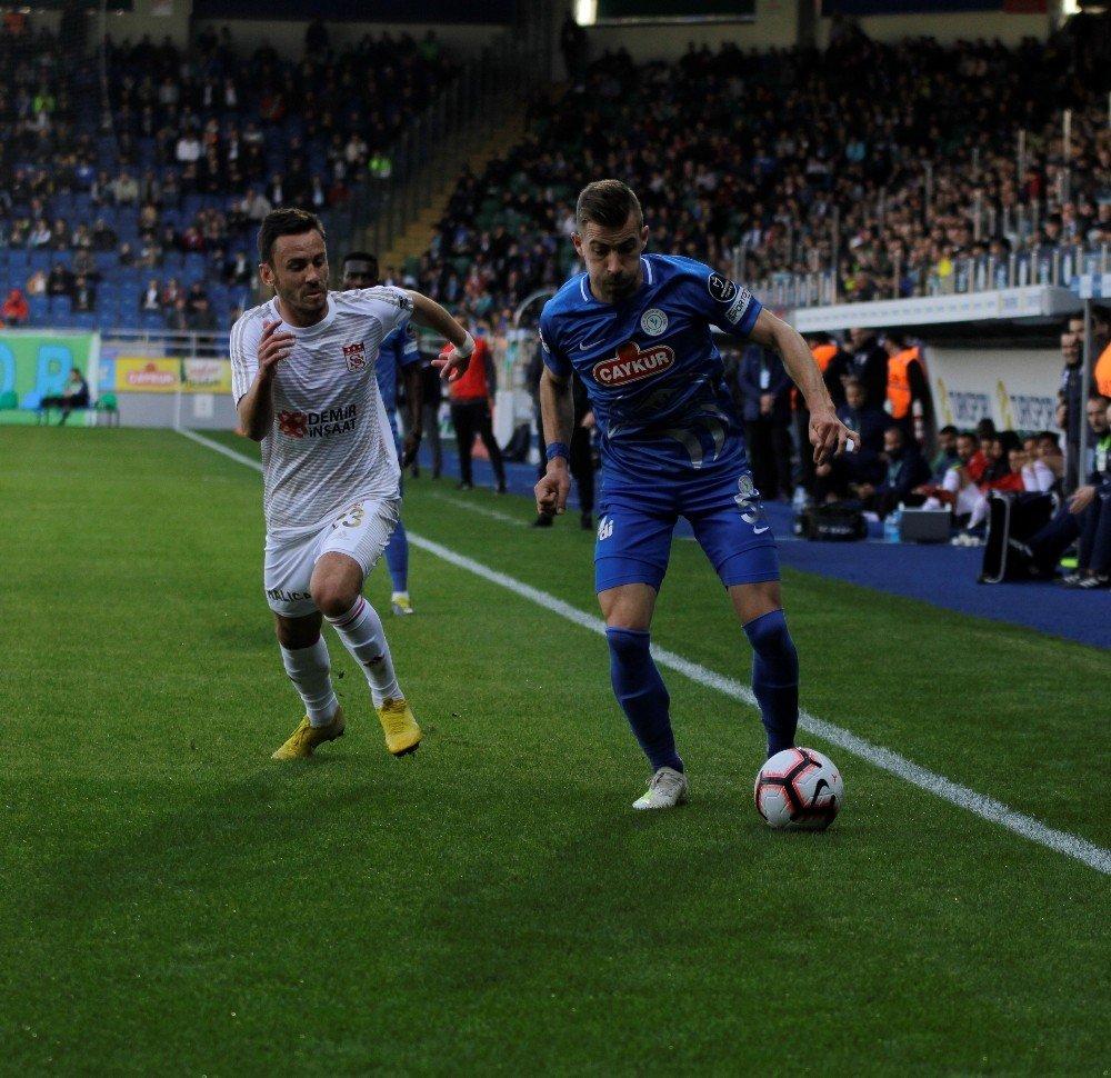 Spor Toto Süper Lig: Çaykur Rizespor: 0 - Demir Grup Sivasspor: 0 (İlk Yarı)