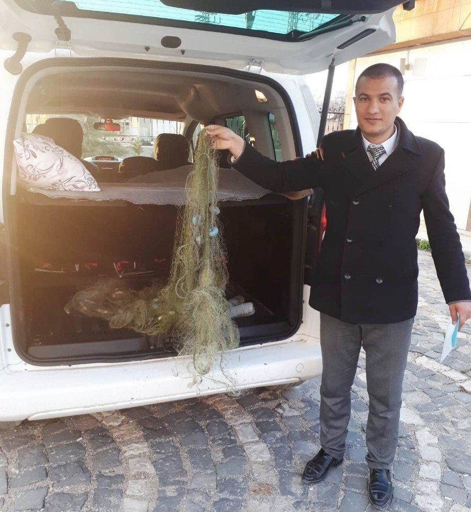 Van'da 50 Kilogram İnci Kefali İle 100 Metre Misina Ağ Ele Geçirildi