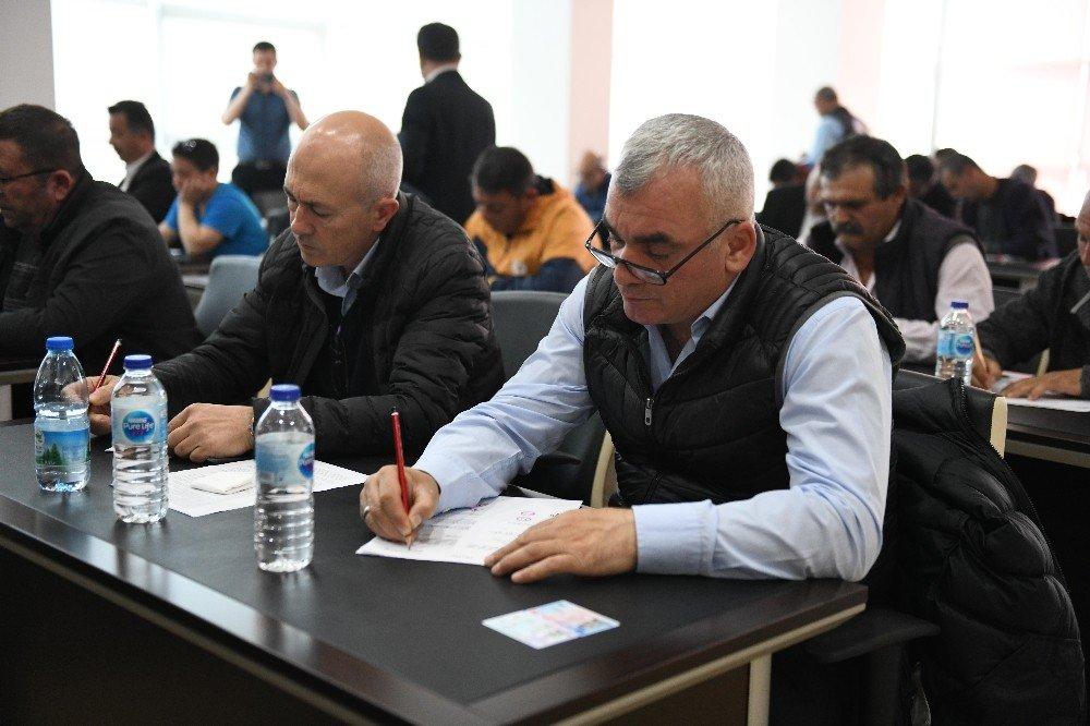 Çanakkale'de Şoför Adayları Yazılı Ve Uygulamalı Sınavdan Geçti