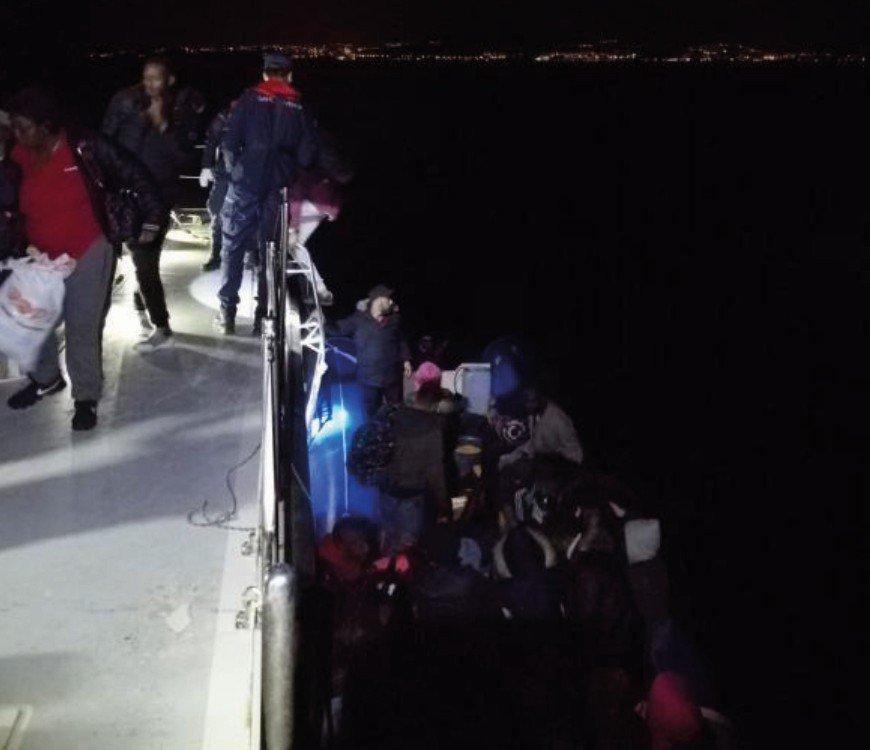 Davutlar'da 42 Kaçak Göçmen Yakalandı